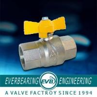 Quality 1/2-1 Port Size Handle Pneumatic Cast Iron Ball Valve , Brass Ball Valve wholesale
