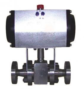 China Pneumatic Ball Valve DN15 2 inch size single acting stainless steel pneumatic ball valve on sale