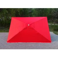 Cheap 4 Ribs Red Rectangular Outdoor Umbrella 2.3mx3.1m For Tea Shop Advertising for sale