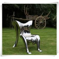 Quality Modern Polished Garden Chair Stainless Steel Furniture Sculpture wholesale