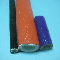 Quality Fire Resistant Fiberglass Sleeving Anti Corrosive Chemicals Coated With Silicone Rubber wholesale