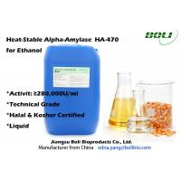 Quality Low PH Tolerate Liquid Heat Stable Enzymes For Ethanol Alpha Amylase HA - 470 280000 U / ml wholesale