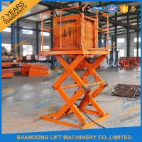 Quality Small Electric Type Portable Hydraulic Fixed Mechanical Scissor Lift 1T - 30T Load Capacity wholesale