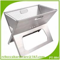 Quality Outdoor use stainless steel mini charcoal portable BBQ grill supplier from china wholesale