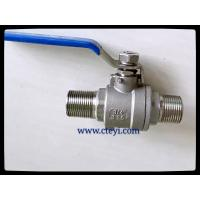China RPTFE / PTFE / PEEK / PPL Seat Extend Body Stainless Ball Valve With Lock Hand on sale
