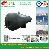 Quality 300 Ton Hot Water Carbon Steel Boiler Drum Water Proof Heat Insulation wholesale