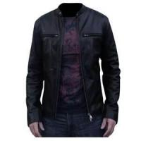 Quality S M L XL custom Fashion Cowhide mens sheep skin leather jacket coat wholesale