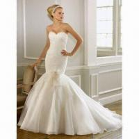 Quality Wedding Dress, Made of Satin, Chiffon, Embroidery, Optional Multiple Colors Selectable wholesale