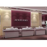Buy cheap Wooden MDF + Tempered Glass Jewelry Display Cases With Light from wholesalers