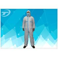Quality Non Woven 4/5/6 Taped Disposable Protective Coverall By SMS Or Microporous Film Laminated Materials wholesale