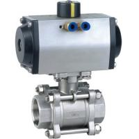 China pneumatic three-way ball valve with internal thread on sale