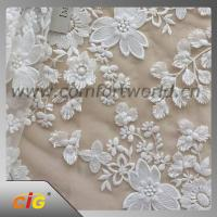 Quality Cotton Nylon Spandex  Embroidered Lace Trimming Fabric For Garment / DIY Craft wholesale