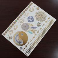 Quality Water Transfer Temporary Metallic Jewelry Tattoo Stickers Environment Friendly wholesale