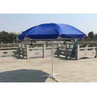 Quality Outdoor Promotional Custom Printed Patio Umbrellas With Base , Steel Wire Ribs wholesale