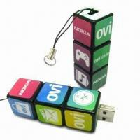 Quality Magic Cube-shaped USB Flash Drive, Customized Logos are Accepted, No External Power Required wholesale