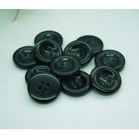 China 100Pcs Black-Brown Color Resin Sewing Buttons for Sweater Overcoat Clothing Sewing Crafts 18mm EA186 on sale