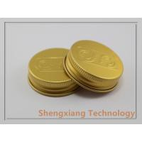 Quality Golden Cosmetic Jar 38/400 Aluminum Screw Caps With Embossed Logo wholesale