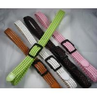 China candy color knitting belts in PU leather for lady dress on sale
