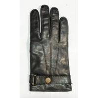 Quality men full finger sheepskin leather gloves accept custom button wholesale