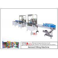 China High Capacity automatic Aerosol Filling Machine For PU Foam / Pesticide on sale