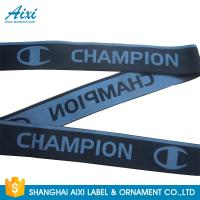 Quality Eco - Friendly Webbing Tape Jacquard Elastic Waistband With Custom Printed Logo wholesale