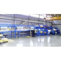 Quality PLC Controlling Rockwool Sandwich Panel Machine PU Coated Roofing Tile Sandwich Forming Machine wholesale