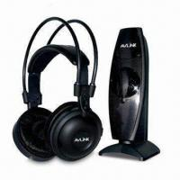 Quality UHF 863MHz Wireless Headphone with High Quality Built-in Battery and Speakers wholesale