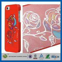 Quality Gold Siliver Foil Bling Flowers Snap-On Apple Iphone 5S Smartphone Back Cover wholesale