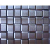China 'Tile' Type Decorative Metal Fabric,Flat Wire Square Woven Mesh,Stainless Steel on sale