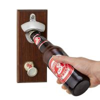 China Permanent Type Magnetic Cap Catcher Metal Beer Bottle Opener Small Size on sale