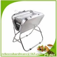 Quality Portable suitcase stainless steel charcoal grill for outdoor camping wholesale