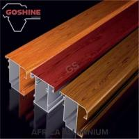 China High Hardness Wood Finish Aluminium Profiles T5 T6 For Kitchen Door / Curtains on sale