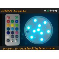 Quality Illuminate 3 Inch LED Light Base For Wedding Centerpiece / Glass Cup , No Flicker wholesale