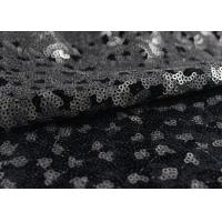Quality Golden Black Sequin Lace Fabric With 3D Embroidery Fabric For Party Gown Dresses wholesale