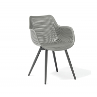 Quality 59cm Depth Grey Rattan Outdoor Dining Chairs wholesale