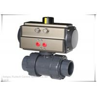 Quality Super Lower Torque Pneumatic Air Actuator AT 140 3 Ways Ball Valves PVC wholesale