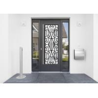 Quality 22*64 Inch Wrought Iron Security Doors Glass Agon Filled Shaped Wrought Iron Exterior Doors wholesale
