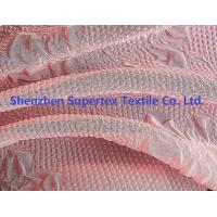 Quality 50D 75D Polyester Chiffon Fabric Pink Color Embossed Flowers Women'S Clothing Fabric wholesale