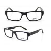 Cheap Rectangle Retro Hand Made Acetate Optical Frames for Unisex , 54-17-140mm for sale