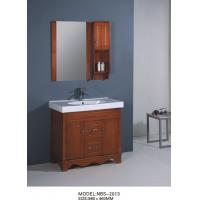 Quality Classics Square Sinks Bathroom Vanities with mirror light brown color wholesale