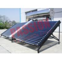 China 1000L Stainless Steel Solar Water Heater Evacuated Tube Collector With Feeding Tank on sale