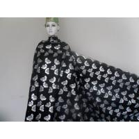 Quality Black Stretch Organza Lace Fabric Embroidered With Shining Sequins wholesale
