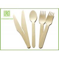 Quality Biodegradable Eco Friendly Disposable Tableware Wooden Cultery Set Spoon Fork Knife wholesale