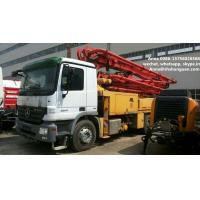 China 300 Kw Used Concrete Pump Truck Mounted Concrete Pump With Benz Truck Chassis on sale
