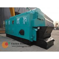 1-20 t/h steam temperature 184-194C automatic feeding and slagging horizontal chain grate coal boiler efficiency