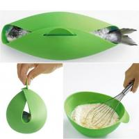 Quality Round Shape Silicone Kitchen Utensils Silicone Collapsible Bowl For Baking Fish wholesale