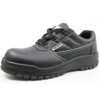 China Oil Resistant PPE Safety Shoes Non Slip Black Leather Steel Toe Malaysia on sale