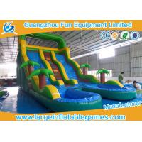 Quality Outdoor Durable Commercial Inflatable Slide Inflatable Pool Slide With Customized Size wholesale