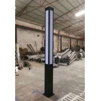 Outdoor Cast Aluminum Decorative Light Poles Customized Color For Square