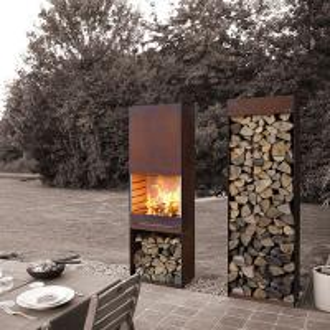 China Yard / Garden Cast Iron Fire Pot , Corten Steel Fire Pit Wood Burning Fireplace on sale